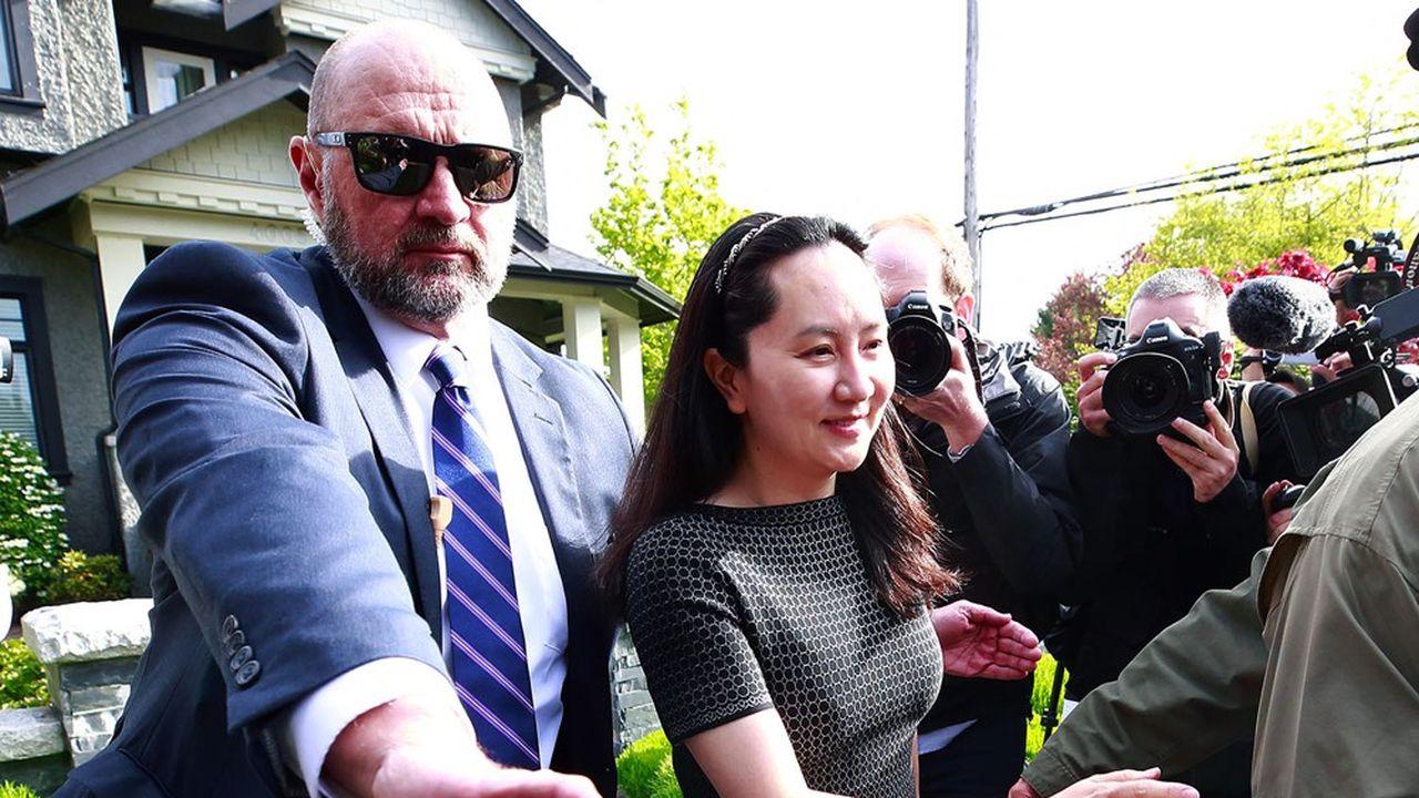 Meng Wanzhou, directrice financière de Huawei retenue à Vancouver, où elle a été arrêtée en décembre 2018. Le début de la guerre froide technologique.