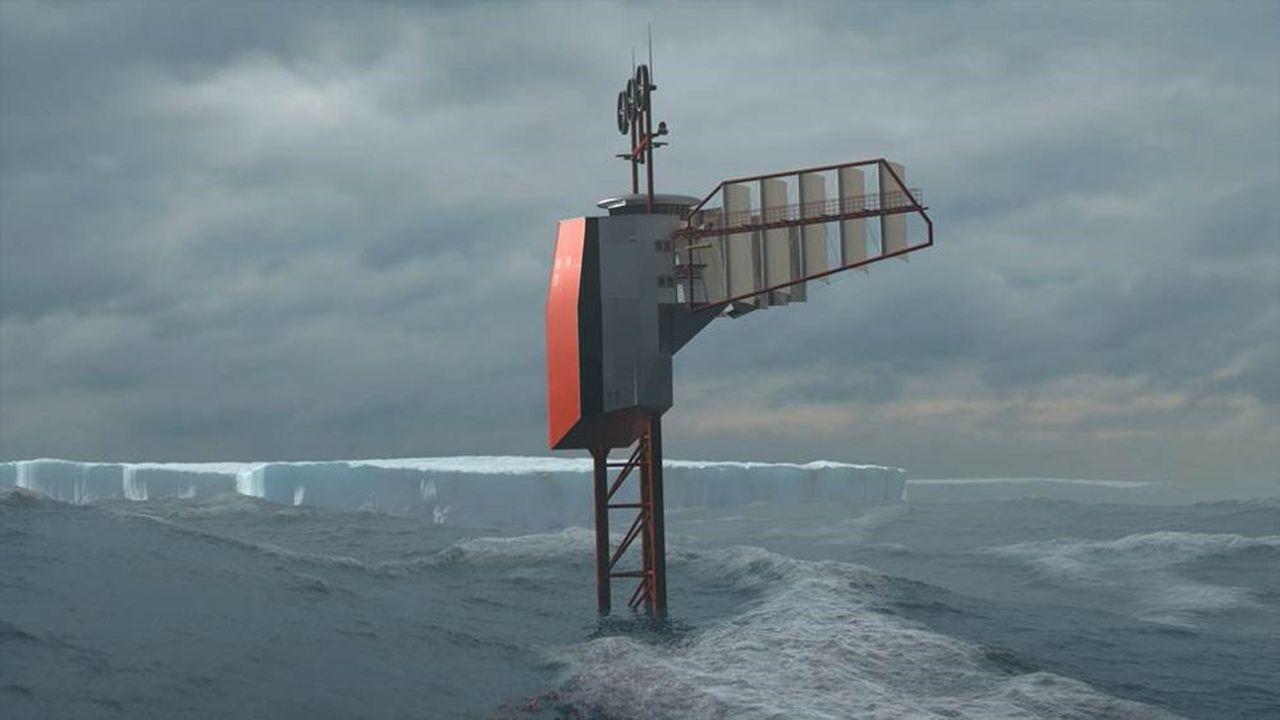 Polar Pod est une plateforme océanographique dérivante destinée à voguer autour de l'Antarctique.