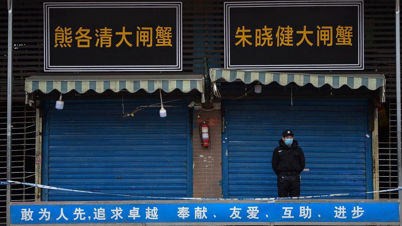 Le Covid-19 a été détecté pour la première fois sur le marché de Huanan, au coeur de la ville de Wuhan.