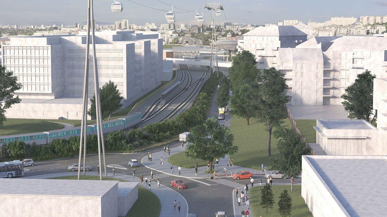 Le Câble A permettra de rejoindre depuis Créteil, Villeneuve-Saint-Georges via Limeil-Brévannes et Valenton en 17 minutes seulement