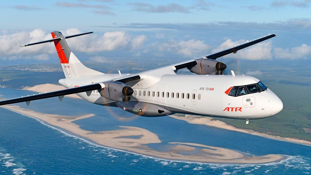 Les deux modèles d'ATR ont conquis 80% du marché des avions régionaux à hélices.