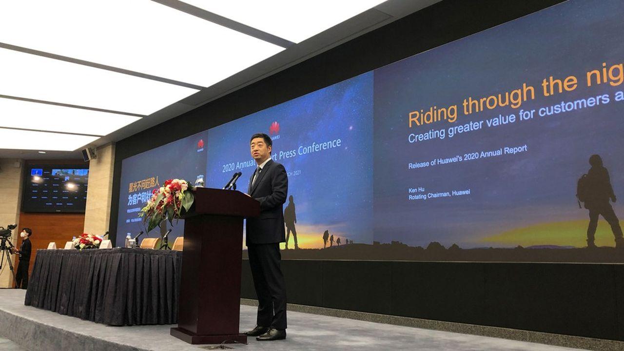 Le président tournant de Huawei, Ken Hu, a présenté les résultats annuels du groupe pour2020.