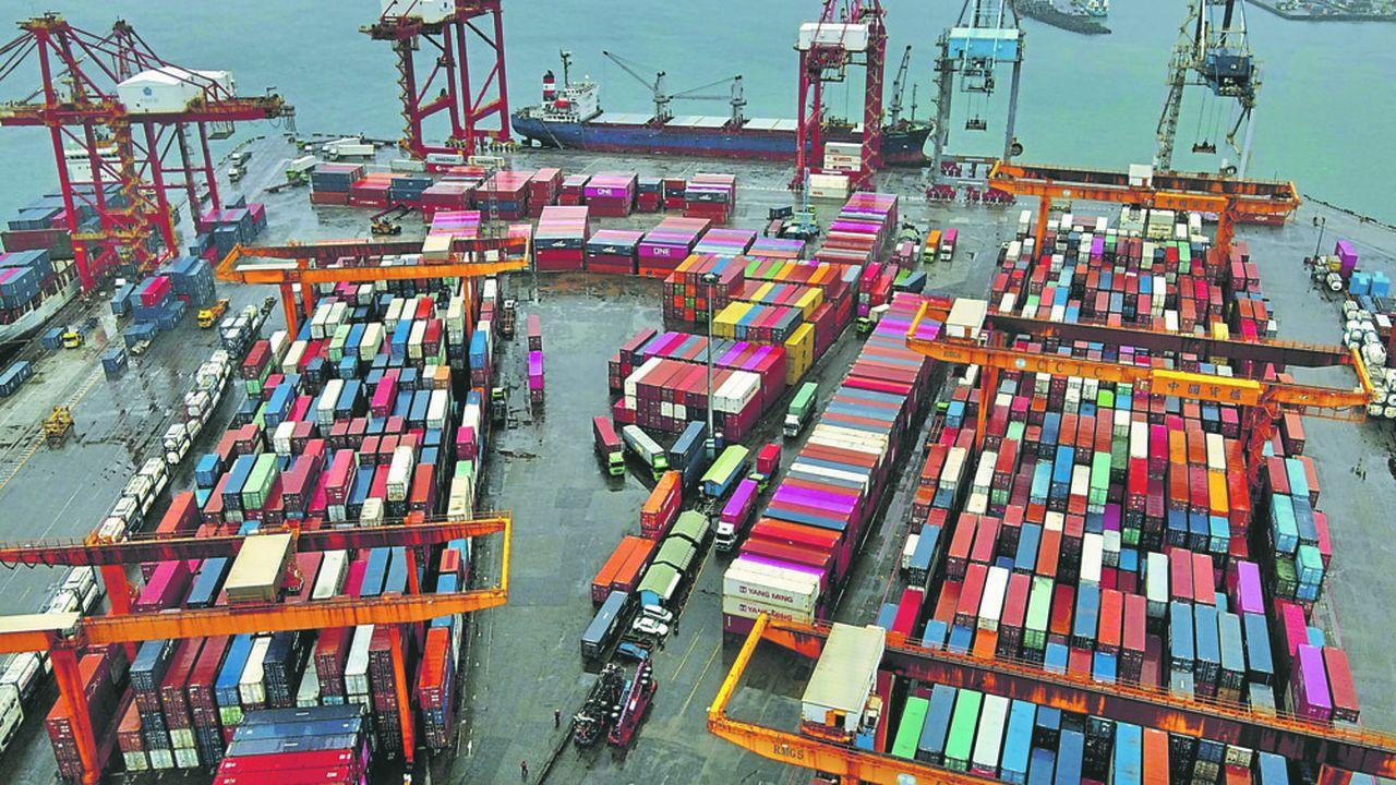L'Asie, comme ici Taïwan, a bien résisté à la baisse du commerce mondial en 2020. Ses exportations en volume ont progressé de 0,3%.