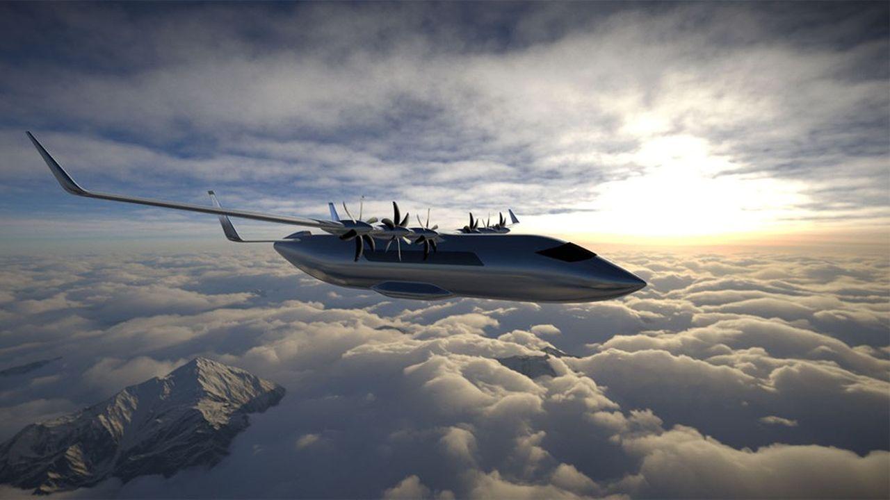 Projet d'avion de transport régional électrique.