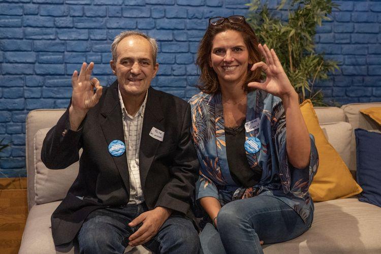 José et sa coach LinkedOut Delphine pour le lancement de la promo 2 du projet, en juillet 2020.