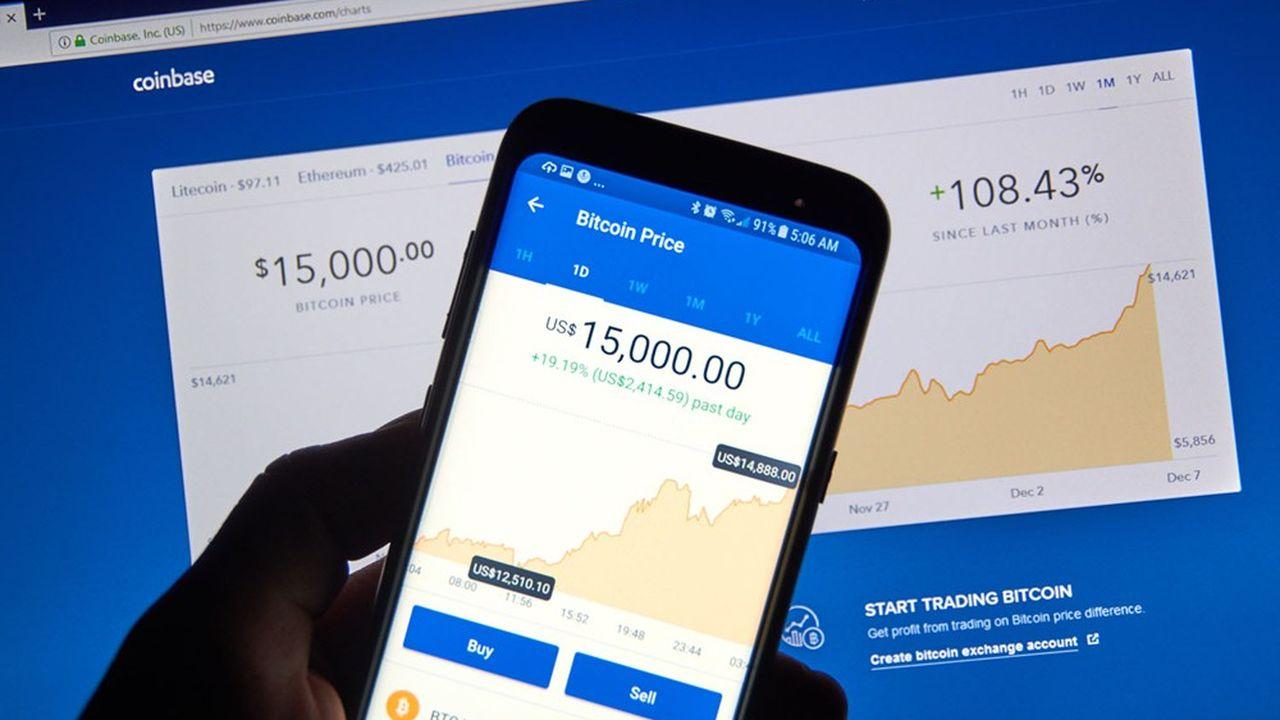 Coinbase comptait, fin 2020, 43millions d'utilisateurs.