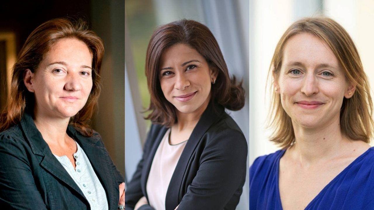 De gauche à droite : Caroline Gaye (DG American Express France), Hager Jemel (Directrice de la chaire Open Leadership for Diversity and Inclusion de l'Edhec) et Anne-Sophie Nomblot (directrice de Réseau au Féminin de SNCF).
