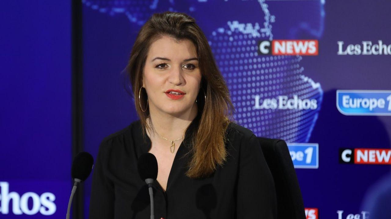 Marlène Schiappa, ministre déléguée à la Citoyenneté, était l'invitée de l'émission politique «Le grand rendez-vous Europe 1 - CNews - Les Echos».