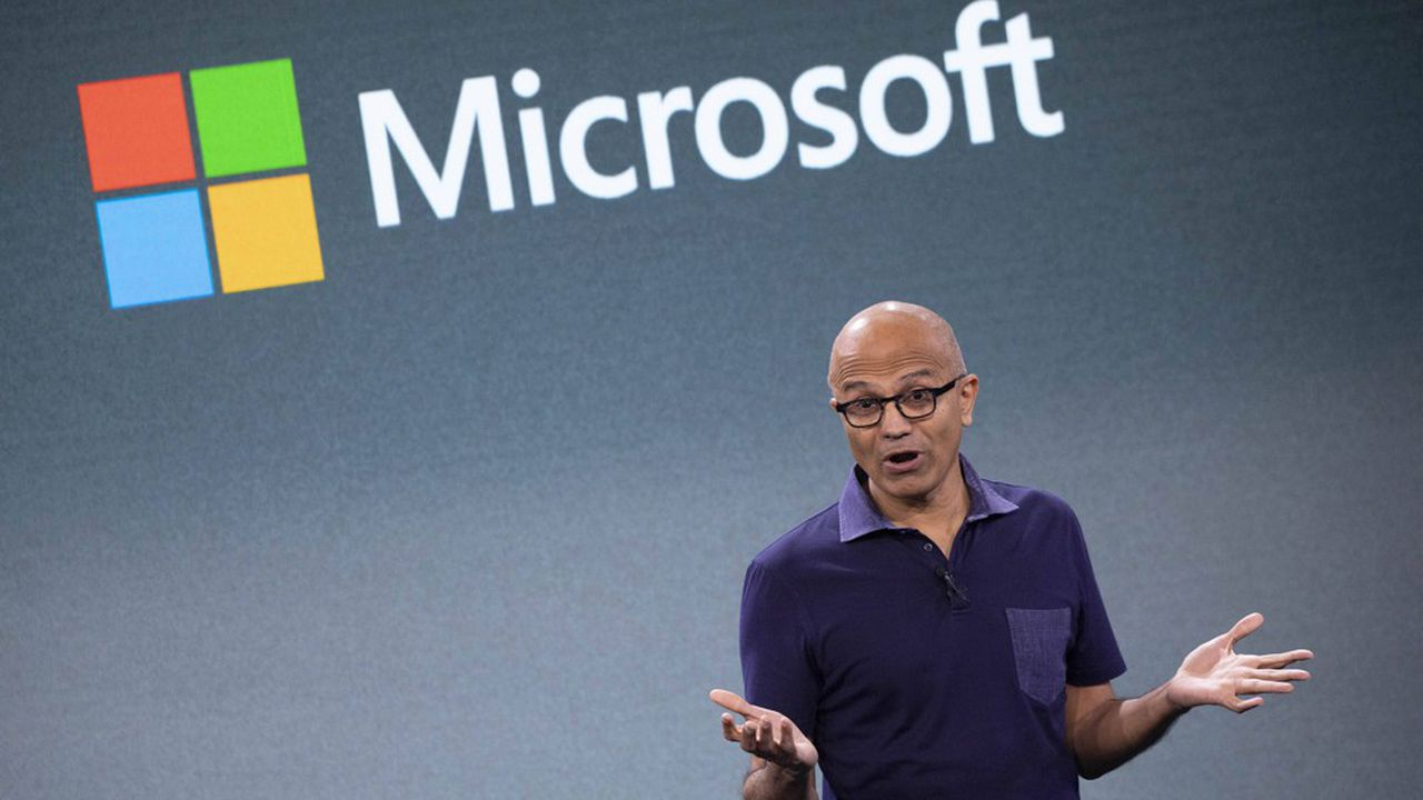Le PDG de Microsoft, Satya Nadella, à New York.