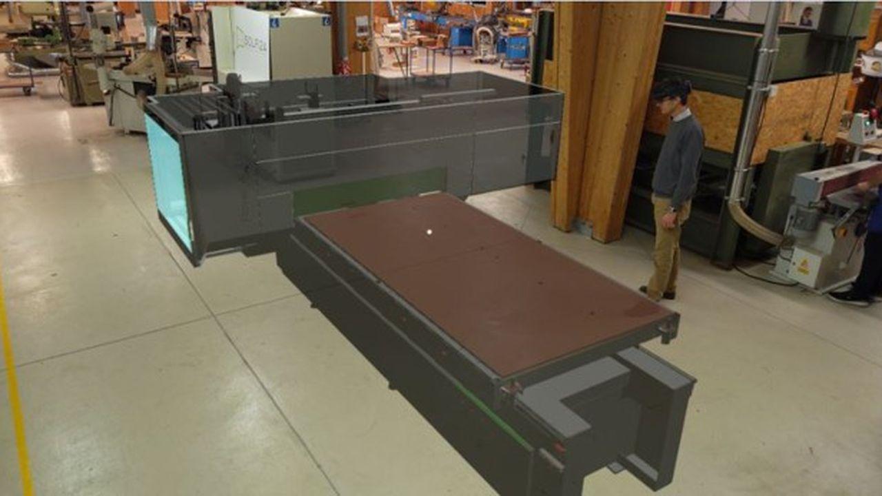 L'hologramme de la machine a permis de valider son implantation dans l'atelier de formation de Afpia Sofi2A