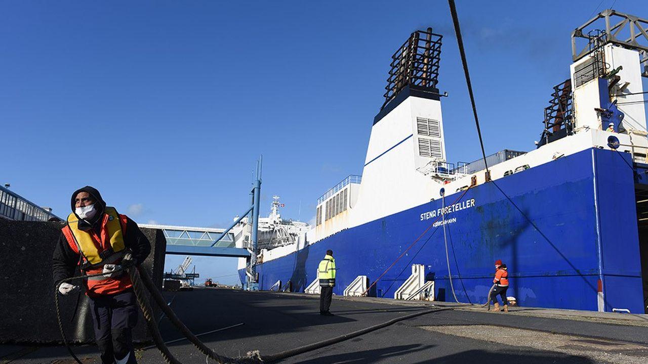 Depuis le Brexit, des navires desservent chaque jour Dublin ou Rosslare.