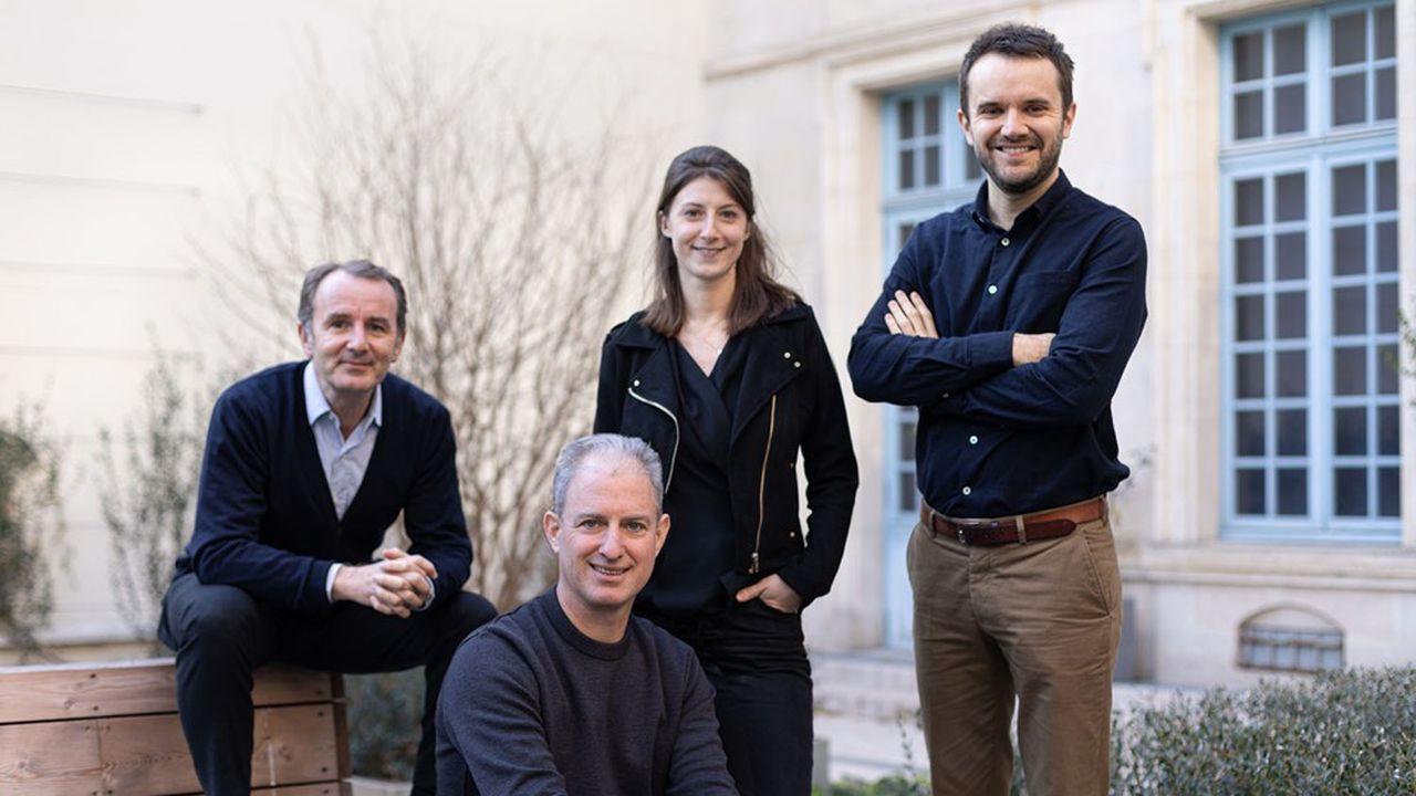 L'équipe de Ring Mission démarre avec quatre personnes, dont Nicolas Celier (en bas), cofondateur, Daphné Gurs et Laurent Babut (à droite).