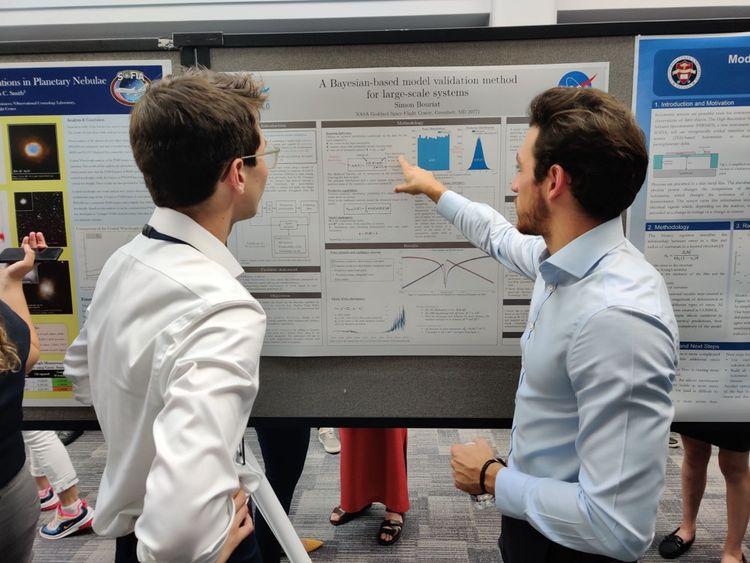 Simon (à droite) se prépare depuis longtemps, il a notamment fait une mission analogue en 2019 à Washington, aux Etats-Unis.
