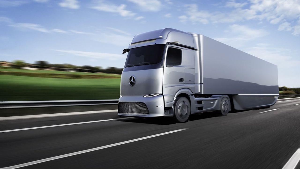Daimler Truck va lancer la production de son porteur eActros électrique à batterie cette année. Autonomie annoncée: environ 500kilomètres.