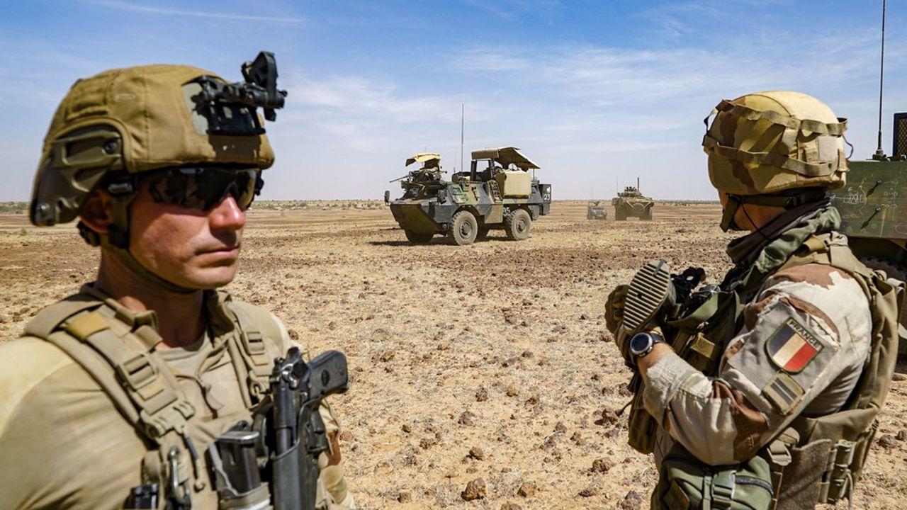 Des militaires français de l'opération Barkhane, au Mali, en janvier2021.