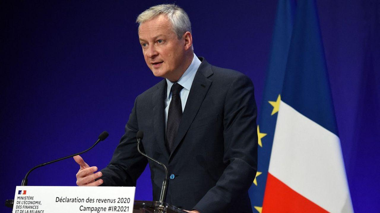 Bruno Le Maire, le ministre français des Finances, se réjouit du grand pas en avant des Etats-Unis pour la conclusion d'un accord à l'OCDE sur la fiscalité internationale.