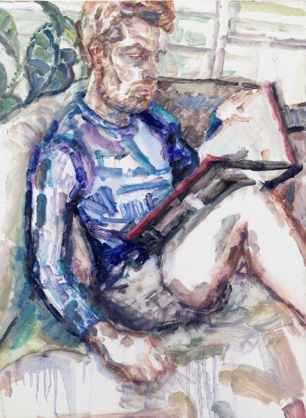 «Raphael, (Nick Reading)» (2018), huile sur toile d'Elizabeth Peyton.