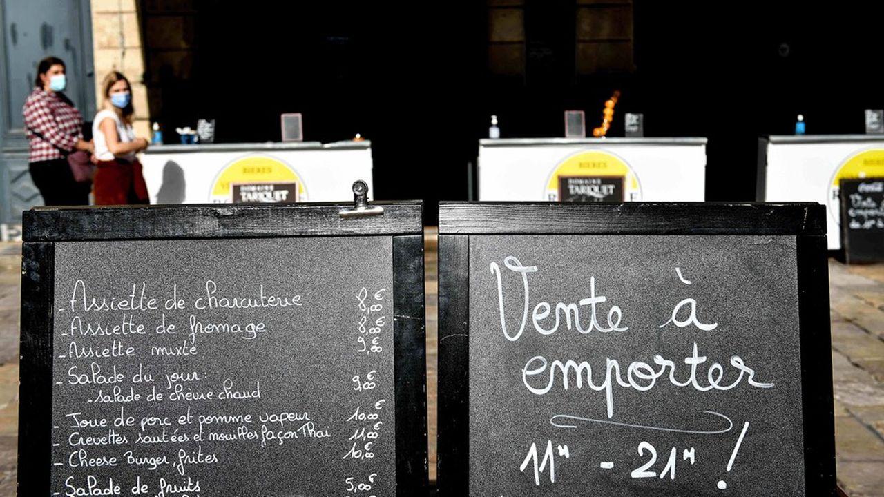 Aujourd'hui, dans les restaurants, la vente à emporter représente près des deux tiers des repas quand la livraison pèse pour 35 % d'entre eux, selon Food Service Vision.