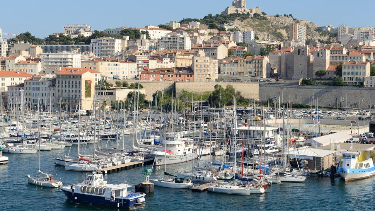 Le port de Marseille.