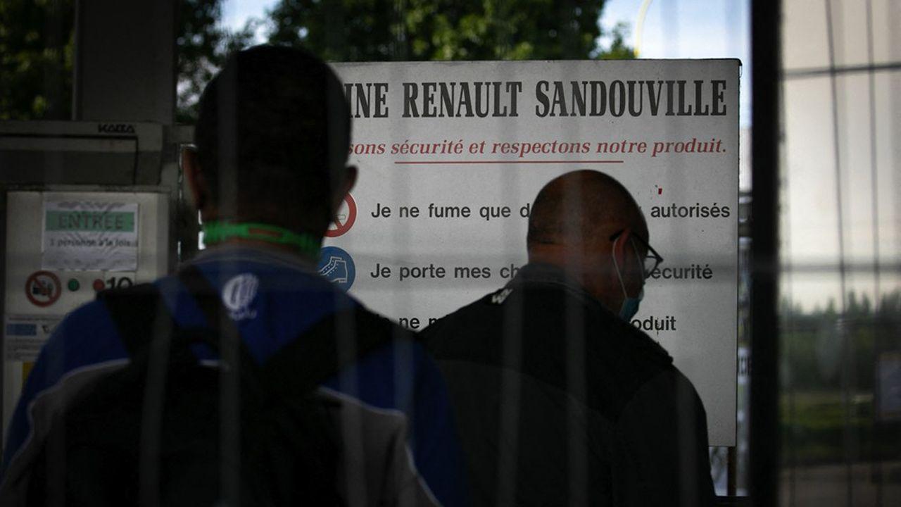 L'automobile fait partie des secteurs les plus touchés par les pénuries, notamment de semi-conducteurs. Ici, l'usine Renault de Sandouville.