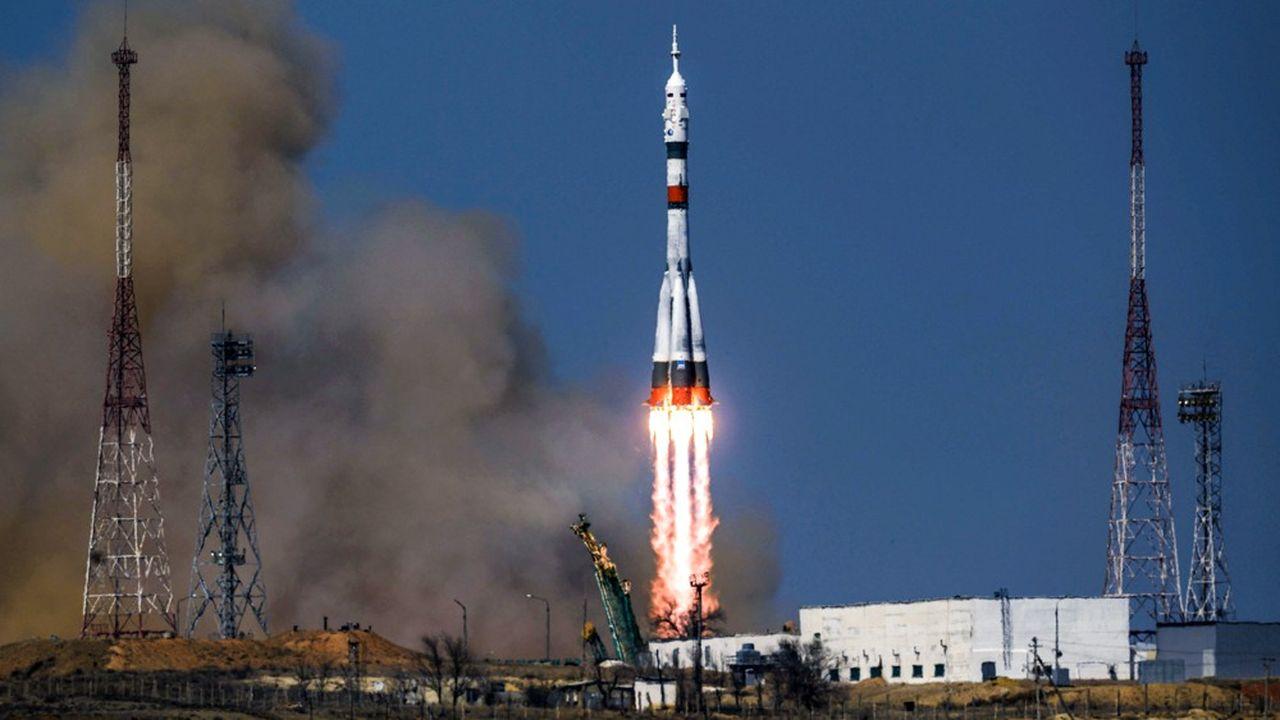 Depuis 2018, Roscosmos a mis fin à la série noire. Ici le décollage de Soyouz MS-18, le 9avril 2021, pour la station spatiale internationale.