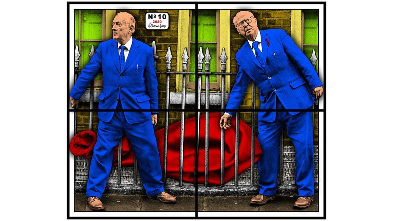 L'oeuvre «Gilbert & George No. 10» (2020) doit être montrée fin mai chez Thaddaeus Ropac à Pantin, lors de l'exposition «30 ans à Paris».