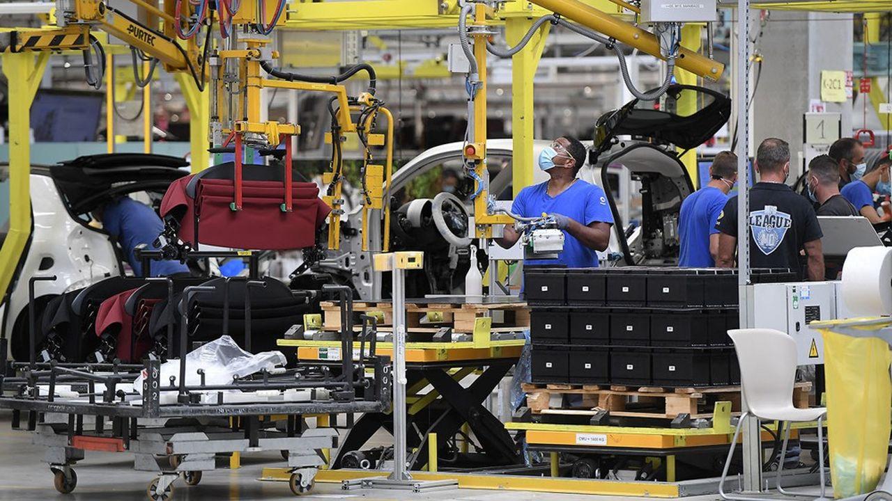 L'industrie française a vu son taux d'utilisation des capacités de production dépasser 80% en mars, un niveau plus élevé que sa moyenne de long terme et supérieur à celui de février2020, avant la crise.