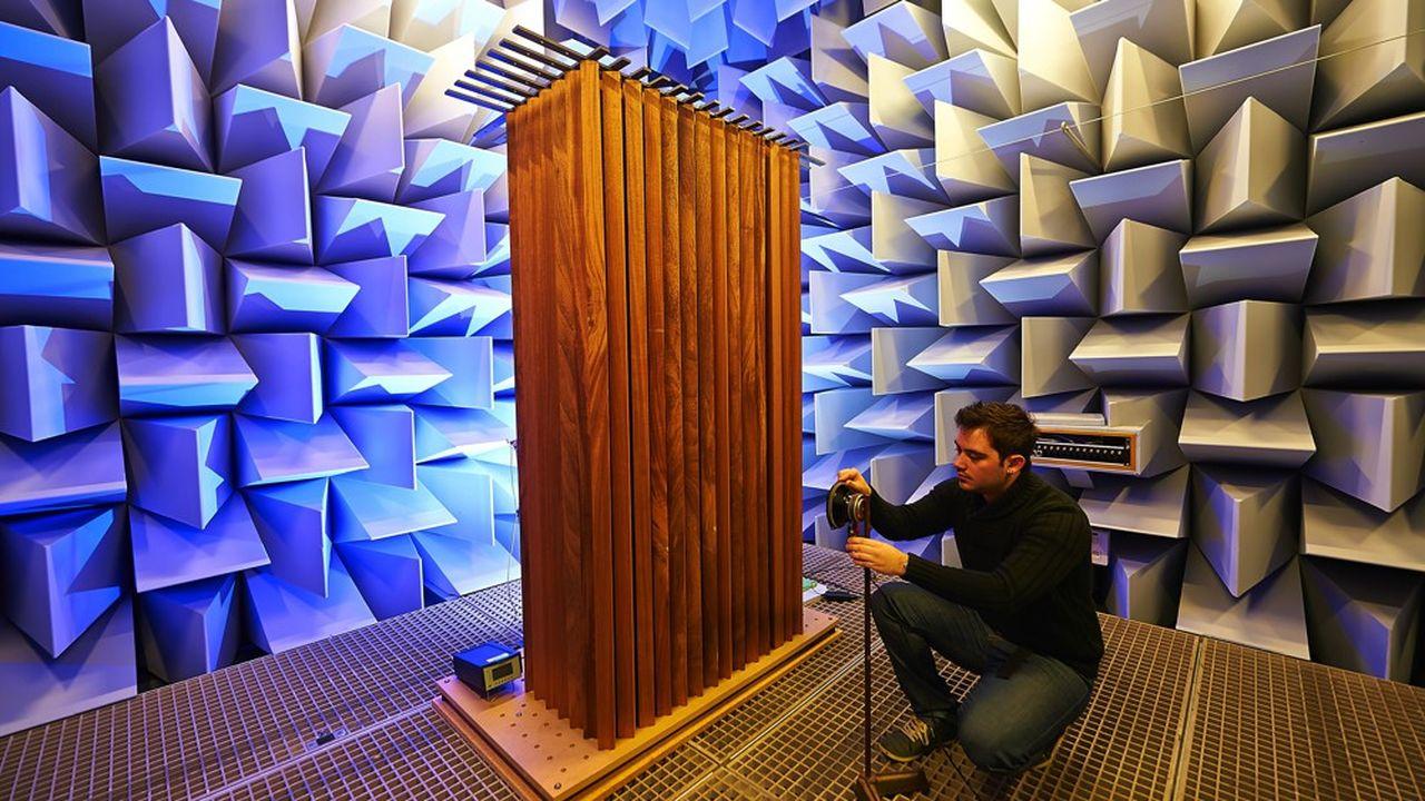 La chambre anéchoïque utilisée par le Laboratoire d'acoustique de l'université duMans (Laum) dans ses locaux actuels.