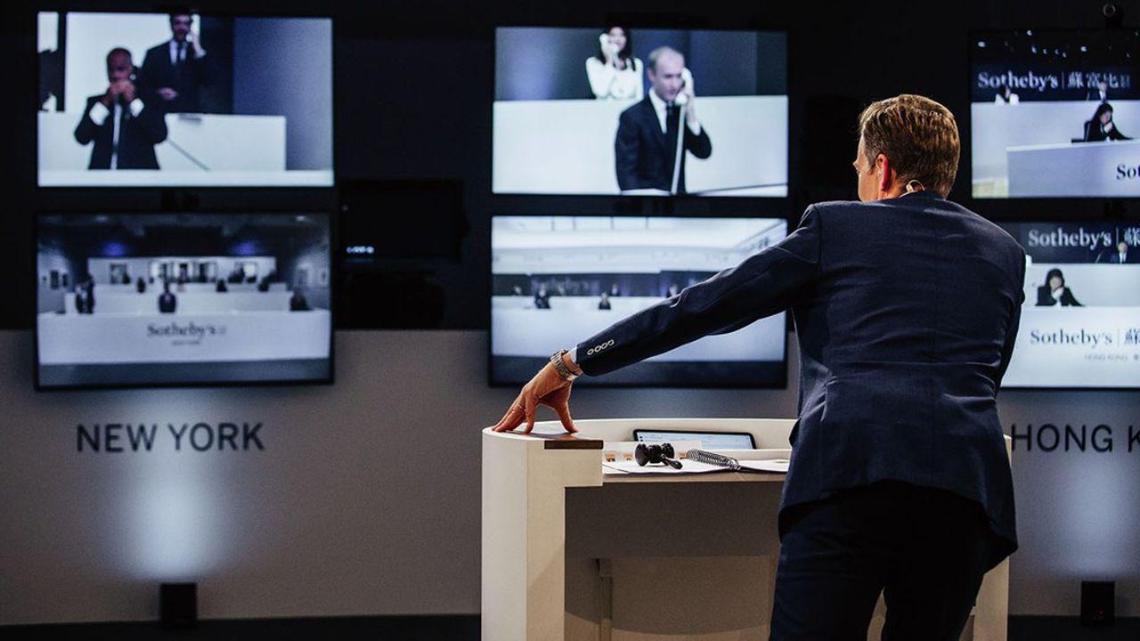 Vente menée à distance par Sotheby's le 29juin dernier, avec Londres, New York et Hong Kong.