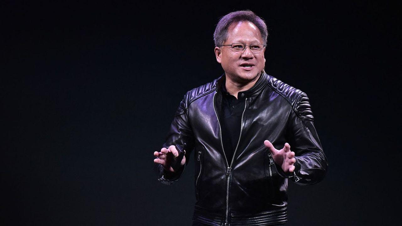 Le patron de Nvidia, Jensen Huang, promet «dixfois les performances des serveurs actuels les plus performants» en matière de calculs pour les algorithmes d'intelligence artificielle.