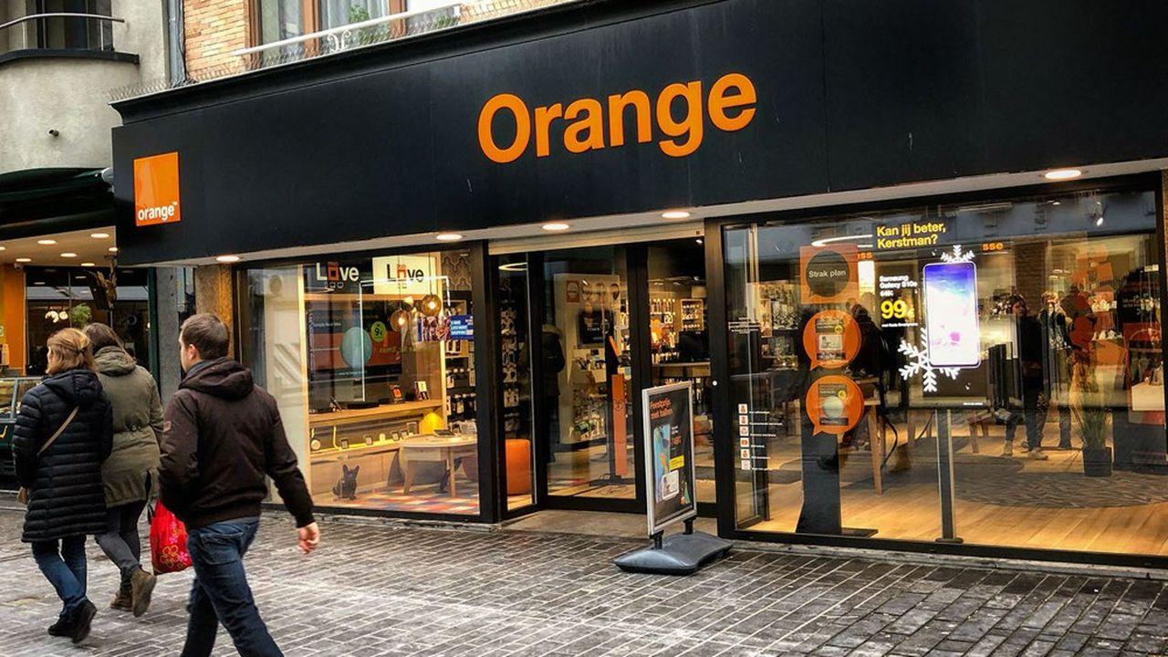 Une boutique d'Orange en Belgique.
