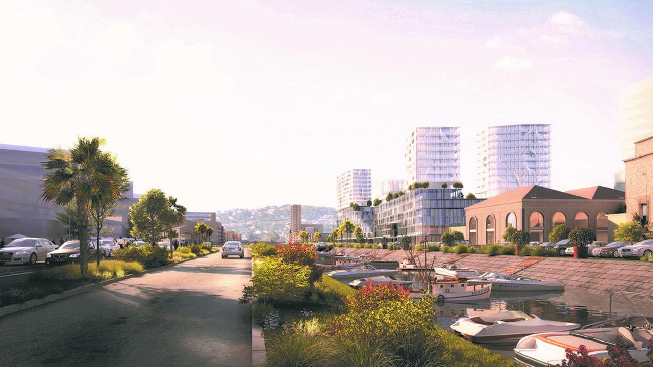 Aménagement du futur quartier Entrée Est, à Sète (Hérault) par GGL.