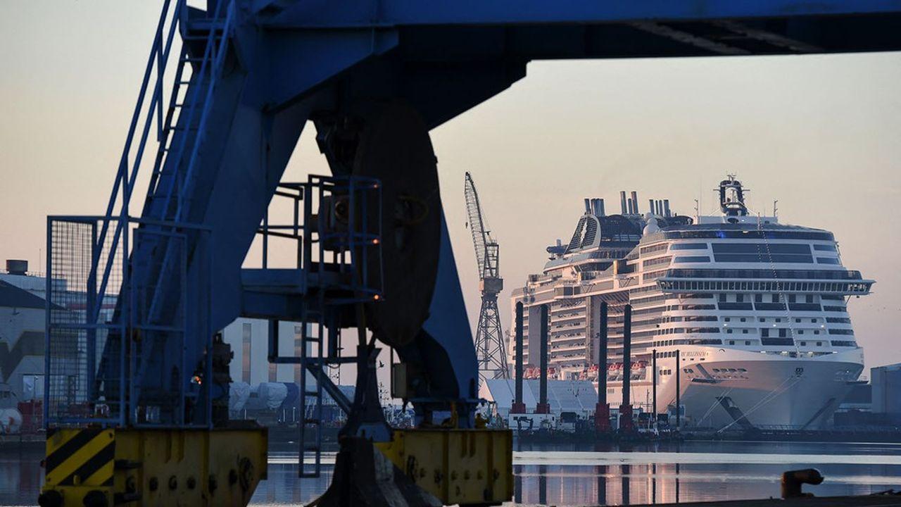 Les Chantiers de l'Atlantique réalisent un chiffre d'affaires de 1,6milliard d'euros, génèrent près de 8.000 emplois directs et indirects, et travaillent avec 500 entreprises locales.