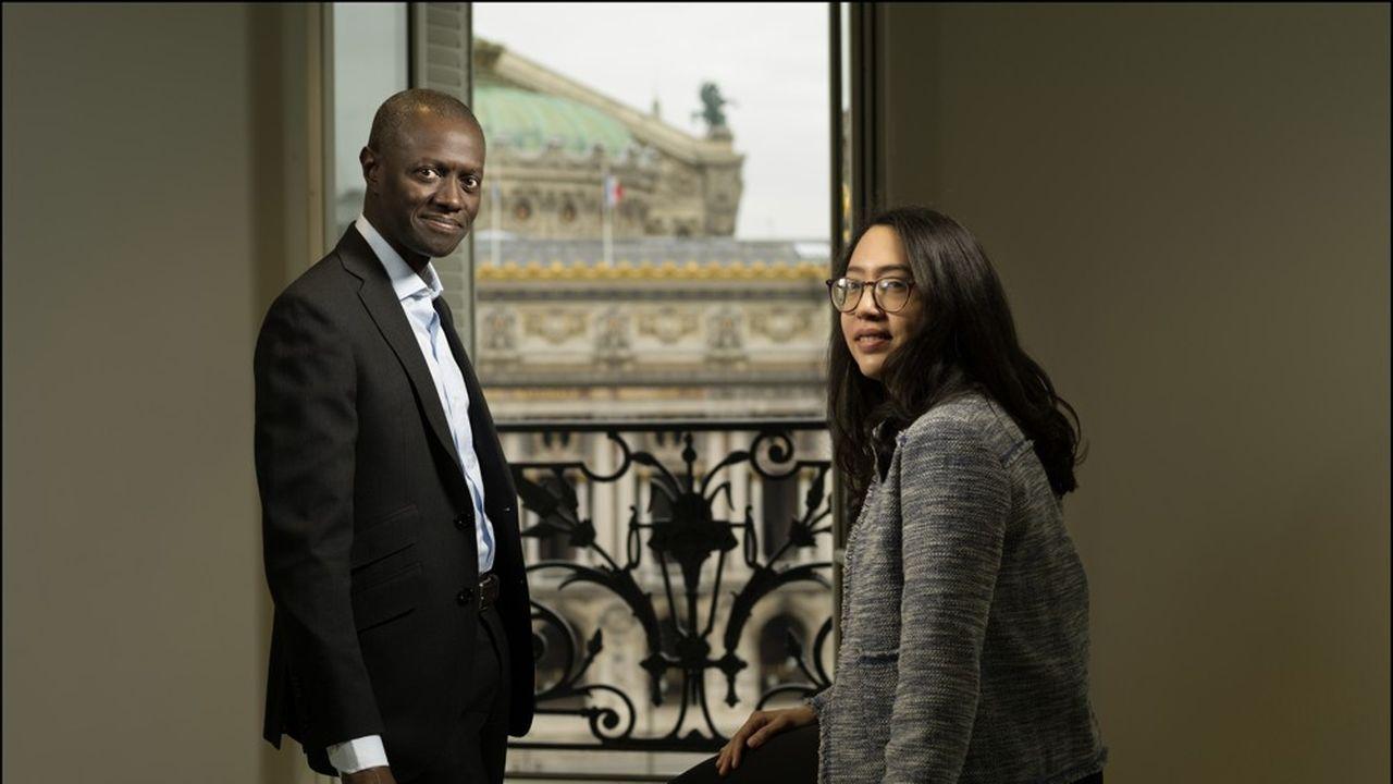 Pap' Amadou Ngom, cofondateur de S&H, avec sa mentorée Nour Mejri, consultante au BCG.