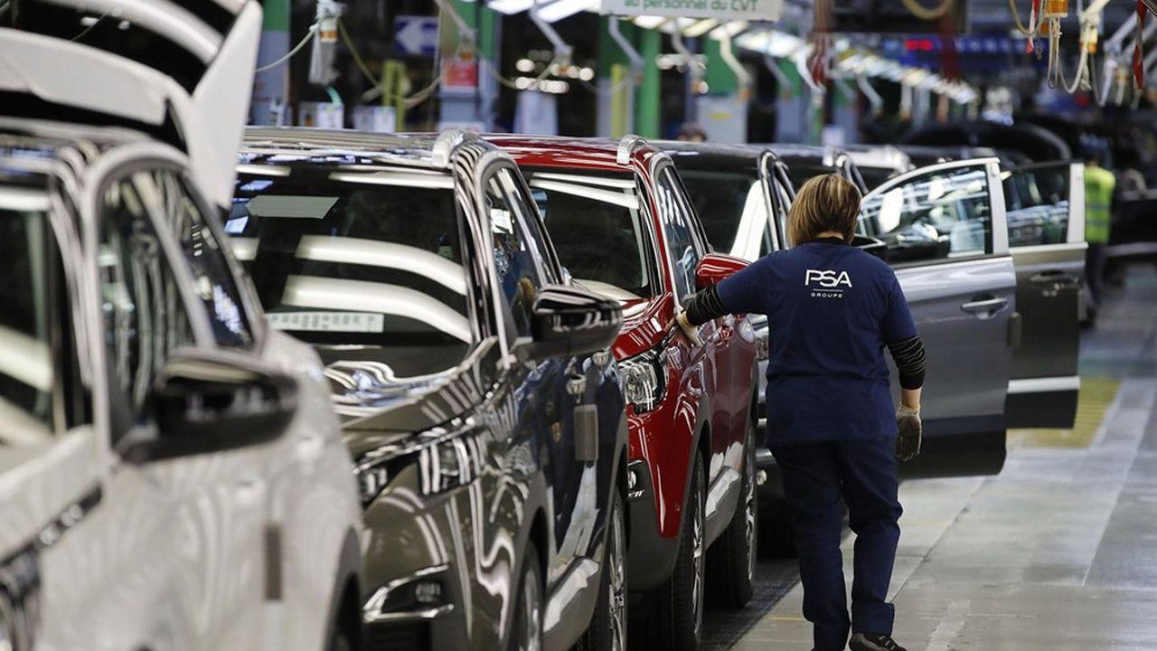 A Sochaux, la production de la Peugeot 3008 (ci-dessus) semble à peu près épargnée, alors que celle de la 308 est interrompue depuis trois semaines.