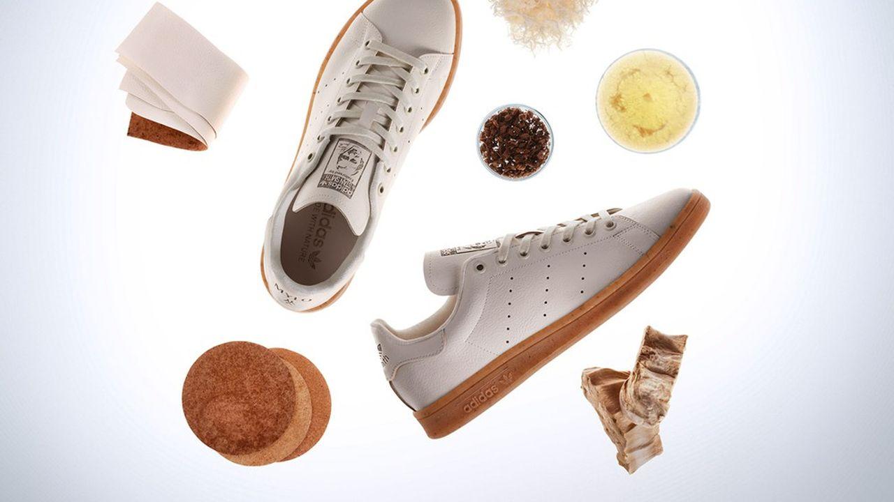 La Stan Smith Mylo illustre la volonté d'Adidas de recourir à des matériaux de nouvelle génération. Le groupe promet aussi une généralisation du polyester recyclé d'ici à 2024.