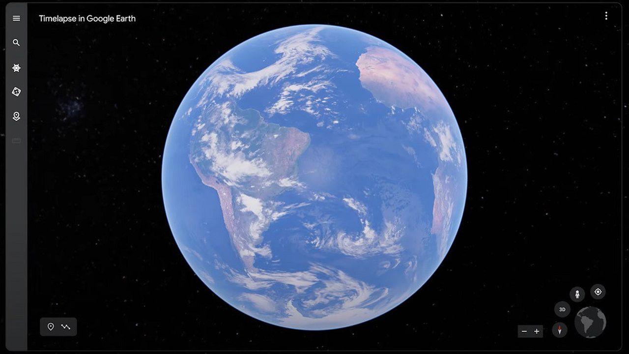 Timelapse, le nouvel outil de Google Earth, permet de voyager dans le temps en vue satellite 3D.