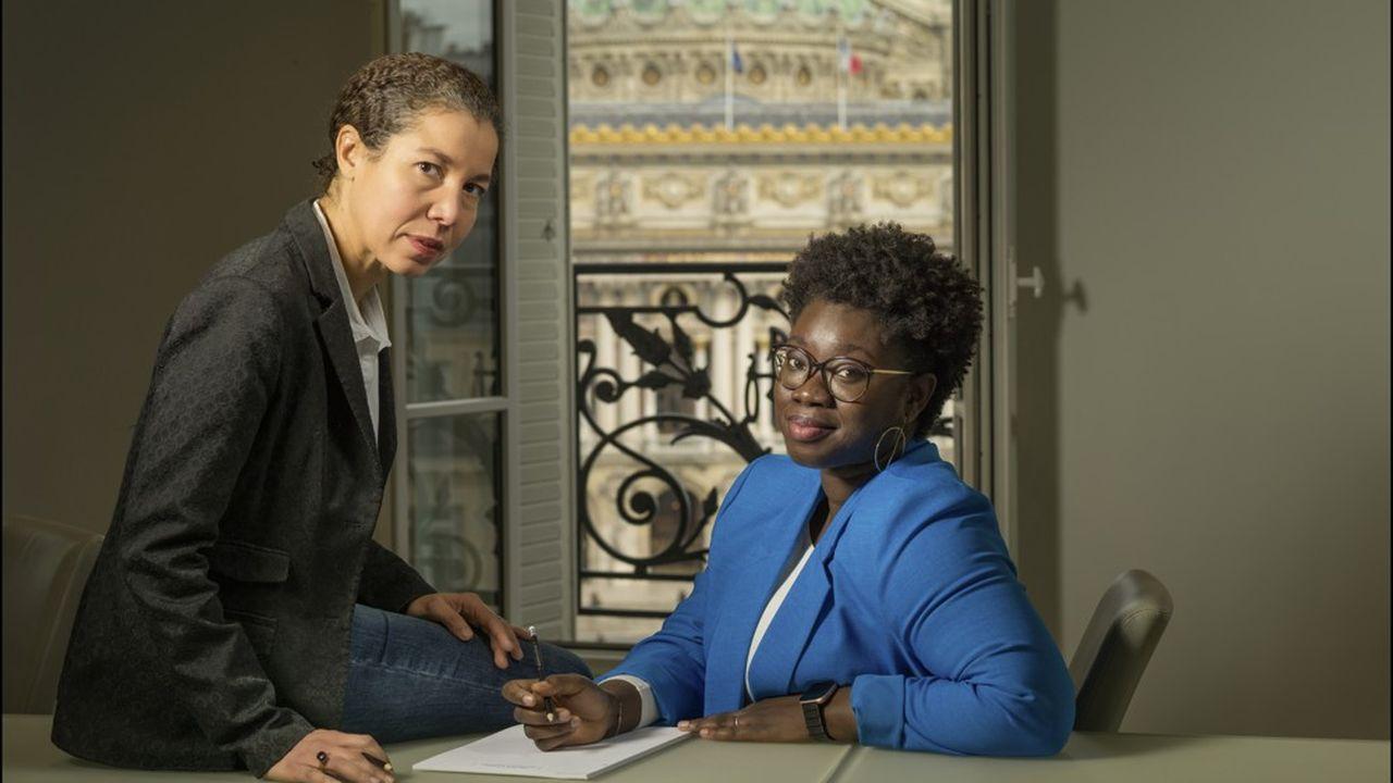 Elsa Mainville, vice-présidente en charge du développement corporate chez Orange, avec Bintou Loum, directrice des opérations chez France Télévisions.
