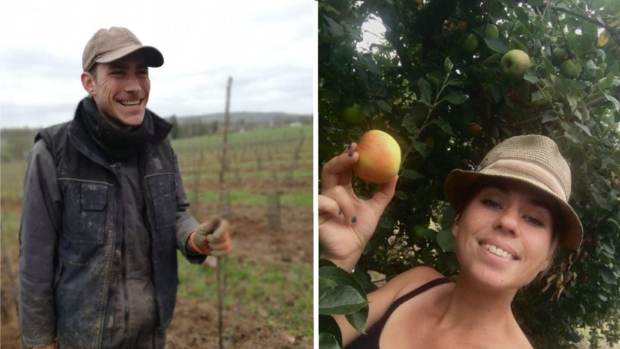 Erwan Blottière (à gauche) et Maud Duverger (à droite) viennent, chacun de leur côté, de reprendre une installation agricole en Mayenne.