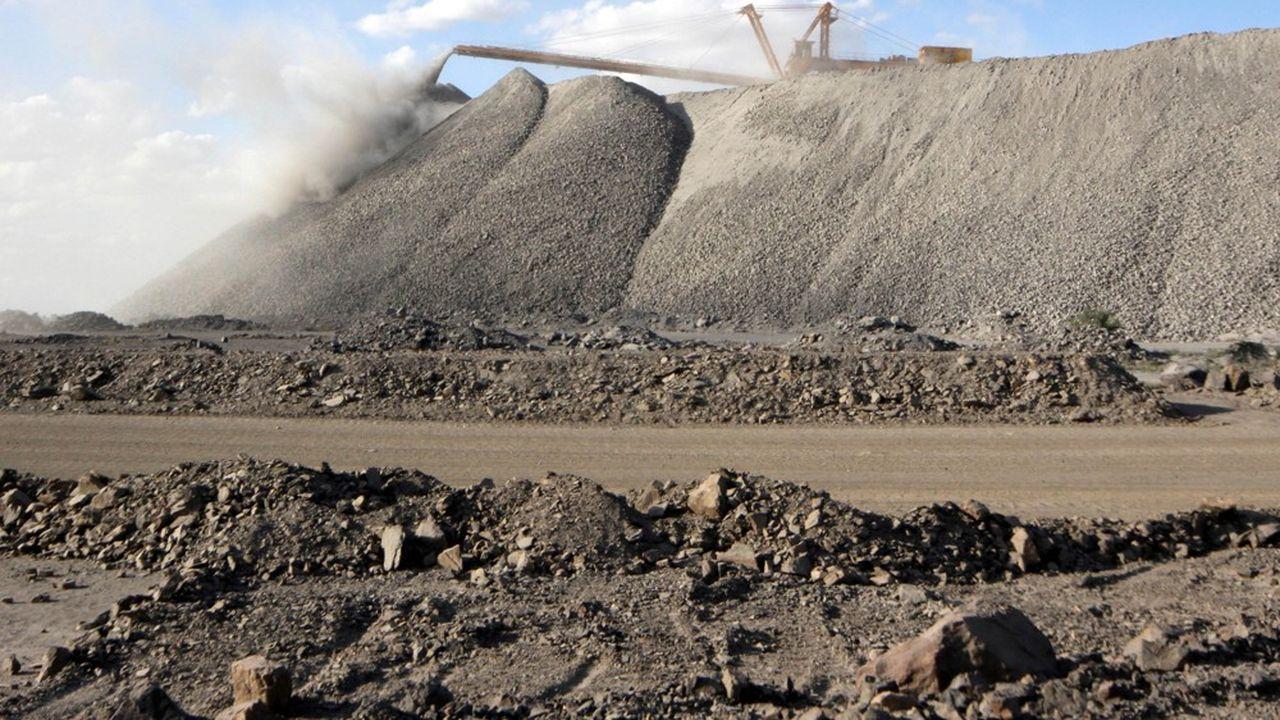 Une mine d'extraction de terres rares en Mongolie.