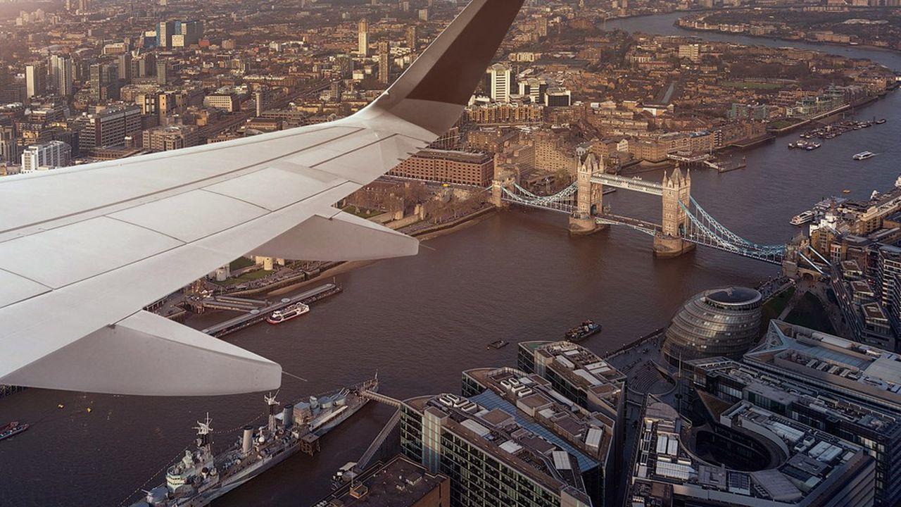 Une vue aérienne de Londres.