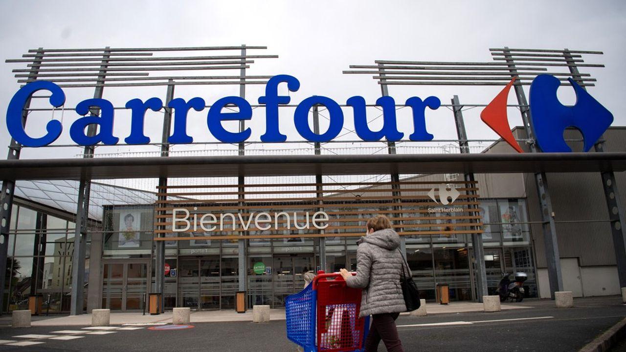 Carrefour continue d'afficher une forte croissance de ses ventes en France, dans ses supermarchés (ici près de Nantes) mais aussi dans ses hypermarchés dont le déclin semble enrayé.