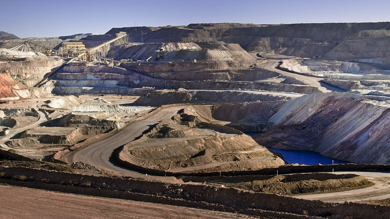 Une mine de cuivre au Chili dans la région de Coquimbo.