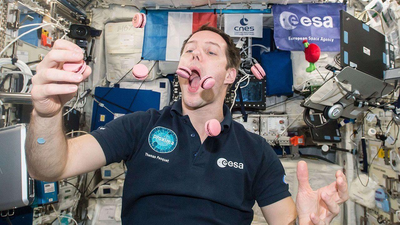 L'astronaute français Thomas Pesquet avait pu déguster des macarons lors de sa précédente mission à bord de l'ISS.