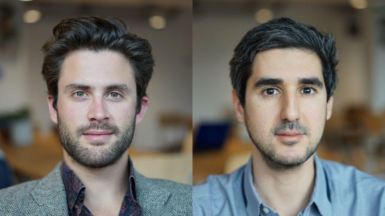 Alexandre Dalyac, 29 ans, le CEO (à gauche) et Adrien Cohen, 36 ans, le président.