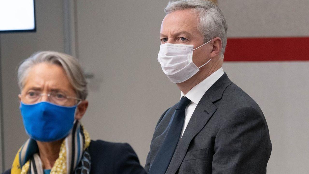 La ministre du Travail, Elisabeth Borne, et le ministre de l'Economie, Bruno Le Maire.