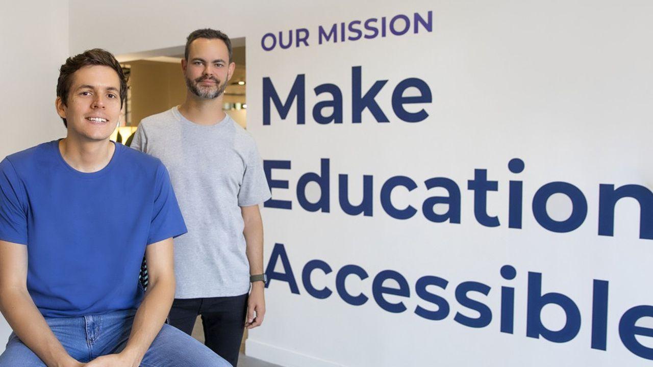 Pierre Dubuc et Mathieu Nebra, fondateurs d'Openclassrooms, viennent de boucler un nouveau financement dans la foulée d'une année qui a accéléré les usages de l'éducation et de la formation à distance.