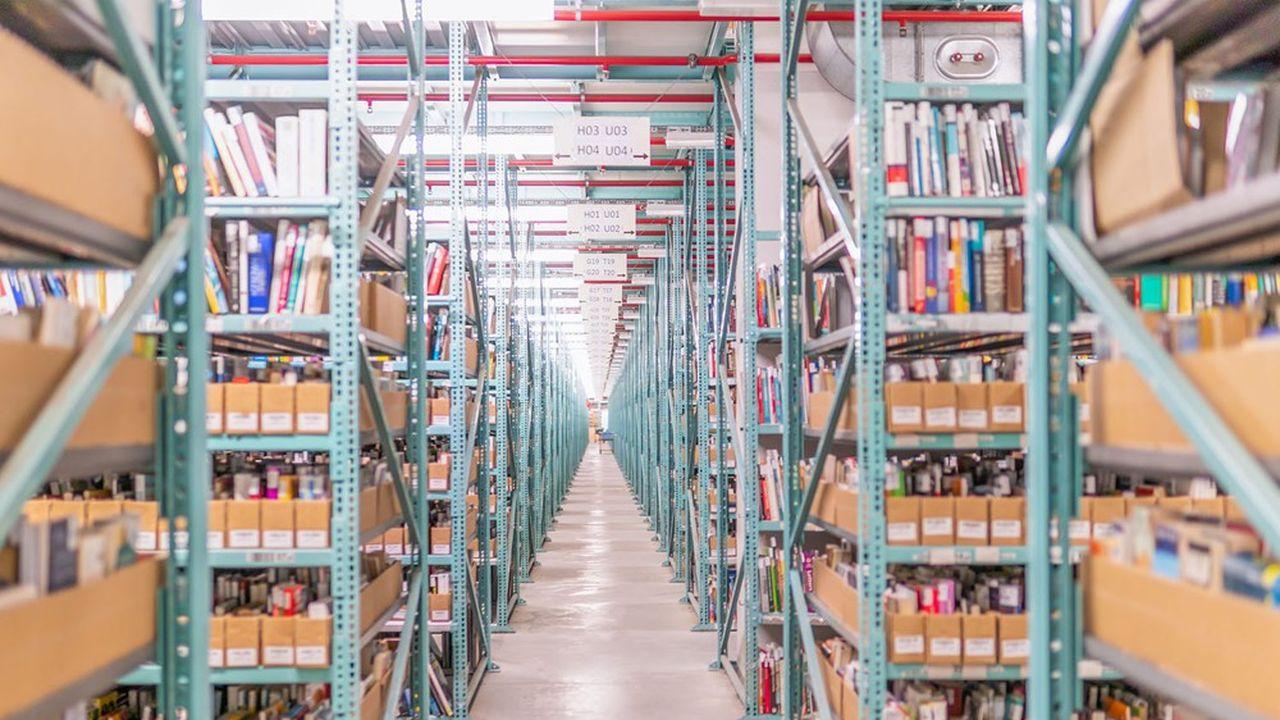 Momox achète et revend en moyenne 150.000produits par jour stockés dans sixsites enAllemagne.