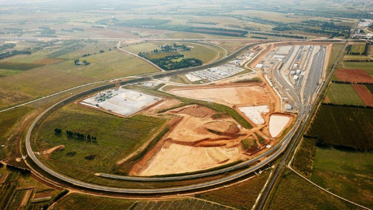 Une photo aérienne de la zone Oc'Via sur laquelle sera construit la maison d'arrêt