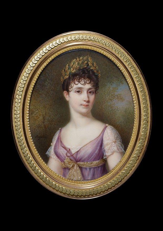 Portrait de l'impératrice Joséphine par Jean-Baptiste Jacques Augustin, début du XIXe siècle.